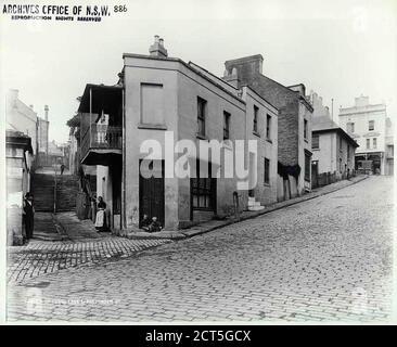 Ferry Lane and Pottinger Street, The Rocks _ - Stock Photo