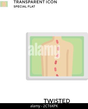 Twisted vector icon. Flat style illustration. EPS 10 vector. - Stock Photo