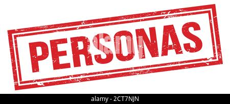 PERSONAS red grungy rectangle stamp sign. - Stock Photo