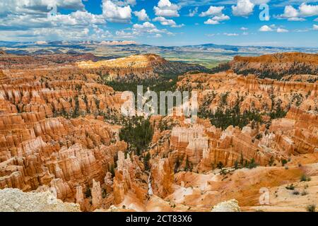 Inspiration Point lookout in Bryce Canyon National Park in Utah