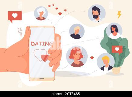 Dating online mobile app for virtual relationship