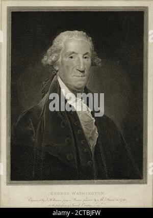 George Washington., still image, Prints, 1796, Stuart, Gilbert (1755-1828), Holloway, Thomas (1748-1827 - Stock Photo