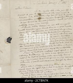 1836-1837, text, Correspondence, 1836 - 1837, Webster, Noah, 1758-1843 - Stock Photo