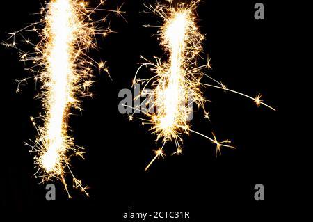 firework sparkle exposed texture on black background
