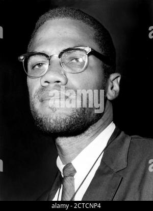 MALCOLM LITTLE aka Malcolm X (1925-1965) African American Muslim minister and political activist in 1964