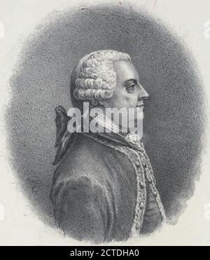 Norborne Berkeley, Baron de Bottetourt sic, Governor of Virginia., still image, Prints, 1880 - Stock Photo