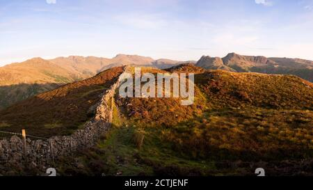 Lingmoor Fell at dawn in the Lake District National Park, UK