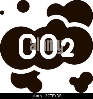 Co2 Smoulder Smoke Steam Air Vector Icon - Stock Photo