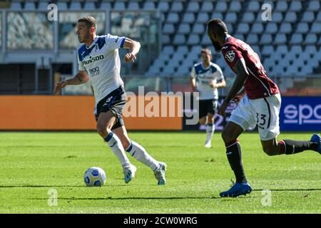 Turin, Italy. 26th Sep, 2020. Turin. Serie A Tim 2020/2021 League match. Turin vs Atalanta. Olympic Stadium Pictured: Robin Gosens Credit: Independent Photo Agency/Alamy Live News - Stock Photo