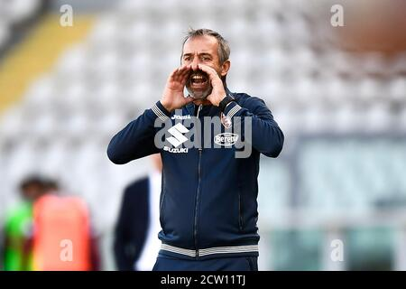 Turin, Italy. 26th Sep, 2020. TURIN, ITALY - September 26, 2020: Marco Giampaolo of Torino FC reacts during the Serie A football match between Torino FC and Atalanta BC. (Photo by Nicolò Campo/Sipa USA) Credit: Sipa USA/Alamy Live News - Stock Photo