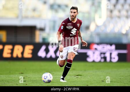 Turin, Italy. 26th Sep, 2020. TURIN, ITALY - September 26, 2020: Nicola Murru of Torino FC in action during the Serie A football match between Torino FC and Atalanta BC. Atalanta BC won 4-2 over Torino FC. (Photo by Nicolò Campo/Sipa USA) Credit: Sipa USA/Alamy Live News - Stock Photo