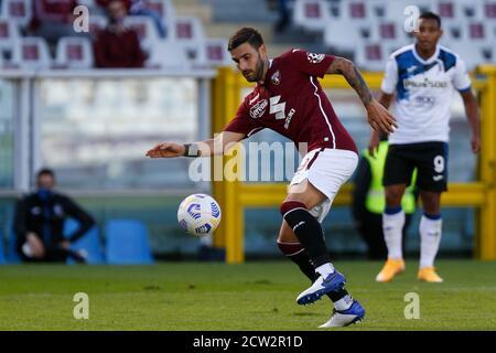 Nicola Murru (Torino FC) during Torino vs Atalanta, italian soccer Serie A match, Turin, Italy, 26 Sep 2020 - Stock Photo