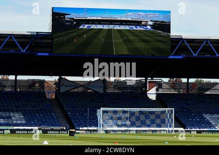 A general view of the stadium - Portsmouth v Wigan Athletic, Sky Bet League One, Fratton Park, Portsmouth, UK - 26th September 2020  Editorial Use Only - DataCo restrictions apply - Stock Photo
