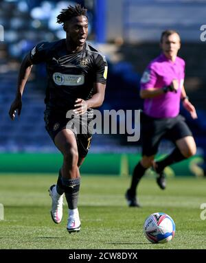 Viv Solomon-Otabor of Wigan Athletic - Portsmouth v Wigan Athletic, Sky Bet League One, Fratton Park, Portsmouth, UK - 26th September 2020  Editorial Use Only - DataCo restrictions apply - Stock Photo