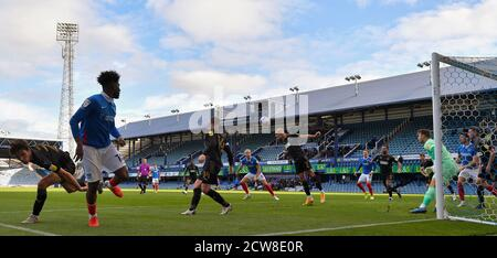 General view during play - Portsmouth v Wigan Athletic, Sky Bet League One, Fratton Park, Portsmouth, UK - 26th September 2020  Editorial Use Only - DataCo restrictions apply - Stock Photo