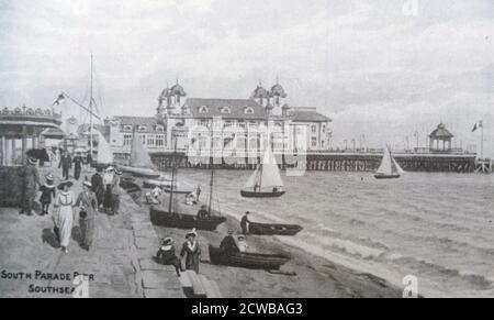 South Parade Pier, Southsea, England. 1905 - Stock Photo
