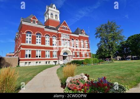 Oregon, Illinois, USA. The Ogle County Courthouse in the county seat of Oregon, Illinois. The building was completed in 1891.