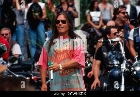 ZDF Fernsehgarten, Sonntags-Unterhaltungsshow, Sendung vom 3. Juli 1994, Gaststar: Sänger Tony Carey Stock Photo