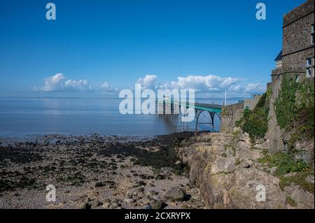 The Pier at Clevedon, Somerset at low tide