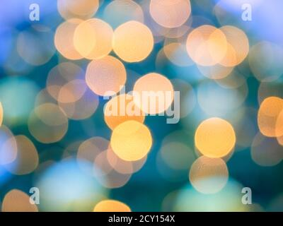 Abstract blurred bokeh background in bright multicolored shades - Stock Photo
