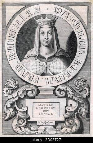 MATILDA OF SCOTLAND (1080-1118) first wife of King Henry I. - Stock Photo