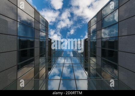 The Financial Conduct Authority office building in Canary Wharf, London, United Kingdom - Stock Photo