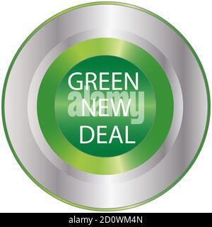 Silver Metal button Sign Go Green