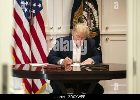 Washington, United States Of America. 03rd Oct, 2020. WASHINGTON, DC - WEEK OF FEBRUARY 02, 2020: President Donald Trump People: President Donald Trump Credit: Storms Media Group/Alamy Live News - Stock Photo