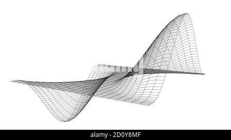 Mathematical axis visualization, formula equation, modern abstract grid, wireframe structure, background, digital technology science concept 3D render - Stock Photo
