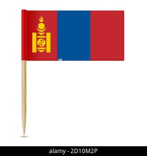 Flag of Mongolia. Flag toothpick - Stock Photo
