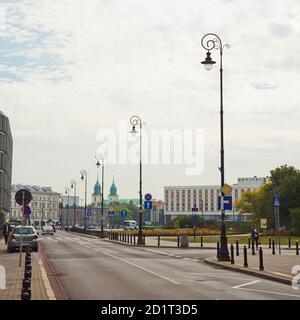 WARSAW, POLAND - SEPTEMBER 28, 2016: To the capital of Poland - Warsaw - Stock Photo