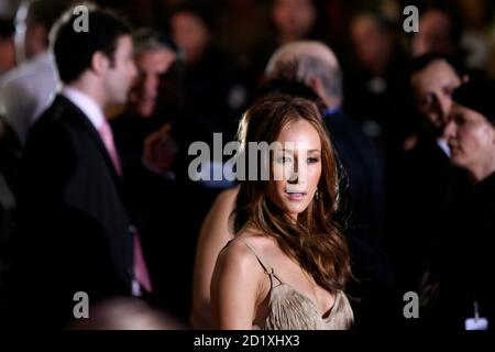 Cast member Maggie Q arrives for the premiere of the film 'Live Free or Die Hard' in New York, June 22, 2007. REUTERS/Keith Bedford (UNITED STATES)