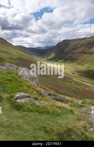Boredale from the route up Beda Fell in Martindale in the Lake District, UK