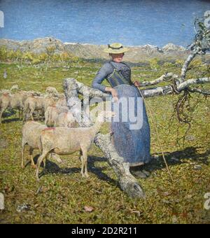 Segantini Giovanni - Mittag in Den Alpen 2 - Swiss School - 19th  Century - Stock Photo