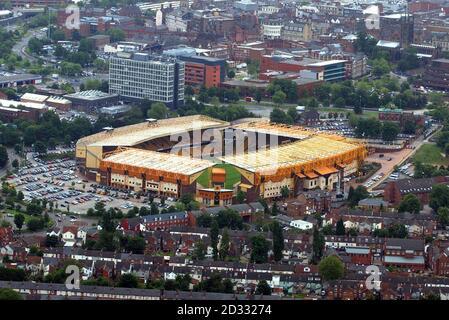 Molineux stadium, home to Wolverhampton Wanderers Football Club. Stock Photo