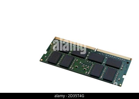 Istanbul, Turkey - October 6, 2020 : Rear view of a Kingston Technology 16gb 2666 mhz Ddr 4 Ram for notebooks isolated on white background.