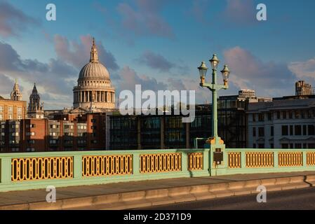 St Paul's Cathedral view from the Southwark Bridge, London, England