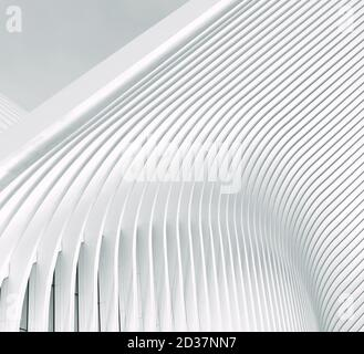 Close-Up Abstract. One Wing of the Oculus at the 9/11 Memorial, Manhattan, New York - Stock Photo