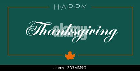 Happy Thanksgiving Day Typographic Poster Design template. Thank you greeting card template. Background full of branches and hanging maple Leaves