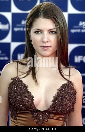 Actress Anna Kendrick arrives at the IFP Independent Spirit Awards in Santa Monica, California February 28, 2004. Kendrick is nominated for Best Debut Performance for her role in the film 'Camp. - Stock Photo