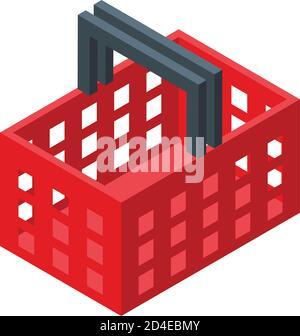 Shop basket subscription icon, isometric style - Stock Photo