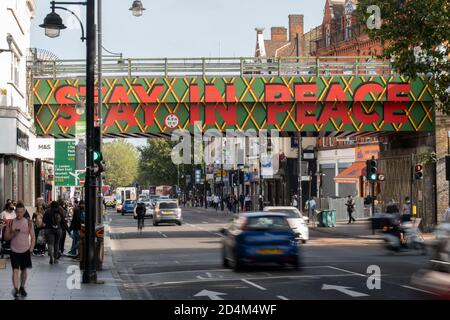 Brixton Bridge on the 17th September 2020 in Brixton in the United Kingdom. Photo by Sam Mellish - Stock Photo