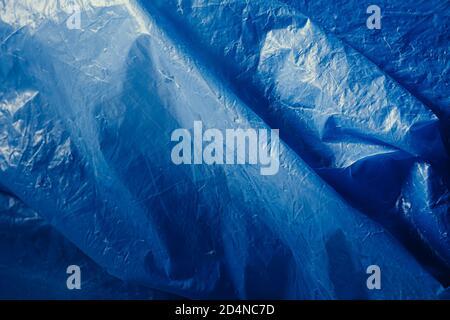 Blue Plastic Bag - Negative Space