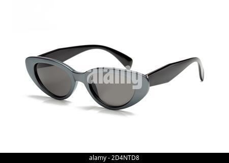 Glamorous women's sunglasses isolated on white background.