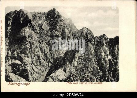 Hohe Halt Tirol, Kaisergebirge, Blick auf die Berge vom Sonneck   usage worldwide