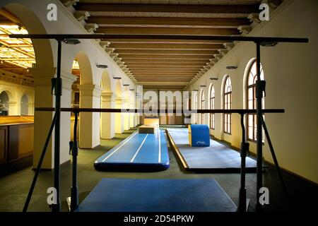 Prague. 12th Oct, 2020. Photo taken on Oct. 12, 2020 shows a closed gym in Prague, the Czech Republic. The state of emergency was declared in the Czech Republic last week and the government has introduced restrictions affecting especially culture, sport and leisure-time activities. Credit: Dana Kesnerova/Xinhua/Alamy Live News - Stock Photo