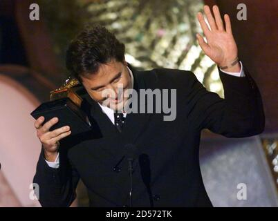 Vince Gill gives his acceptance speech after winning in the category Best Male Country Vocal Performance February 24. Gill won for his record ' If You Ever Have Forever in Mind'.  GMH - Stock Photo