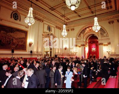 The scene inside the Ballroom of Buckingham Palace at Prince Charles' 50th party November 13. The Queen hosted the party on the eve of Charles' birthday.  AS/SB - Stock Photo