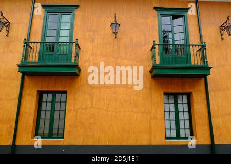 Colombia Bogota - Historic town area house colorful facade