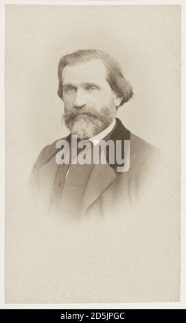 Giuseppe Fortunino Francesco Verdi (Giuseppe Verdi, 1813 — 1901) — an outstanding Italian composer, whose work is one of the greatest achievements of Stock Photo